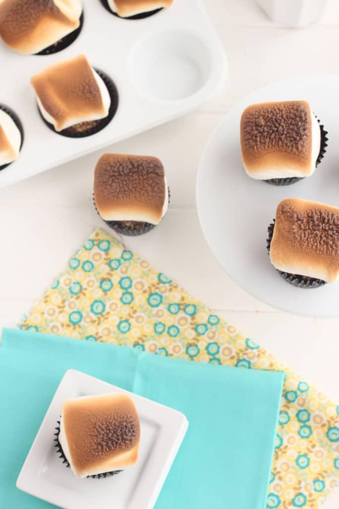 smore cupcakes @createdbydiane