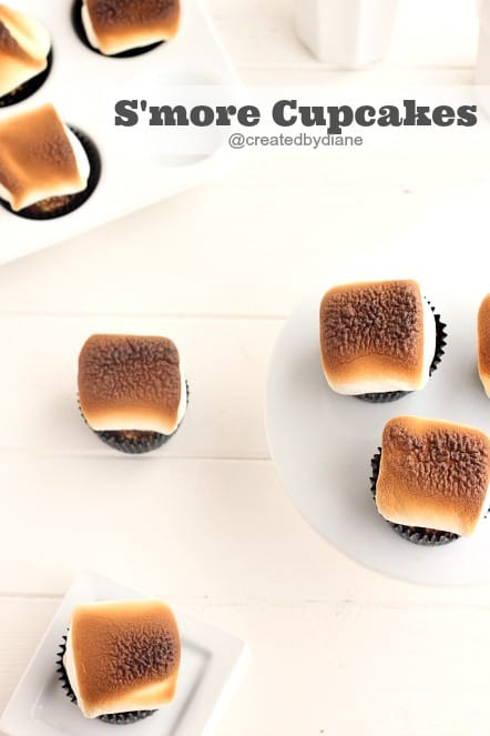 S'more Cupcakes @createdbydiane