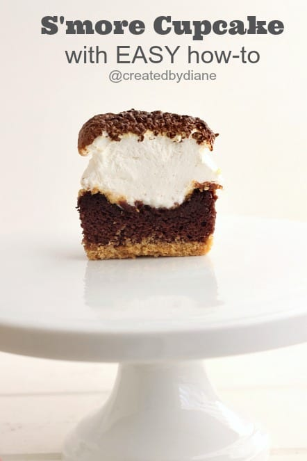 So EASY...Smore-Cupcake @createdbydiane