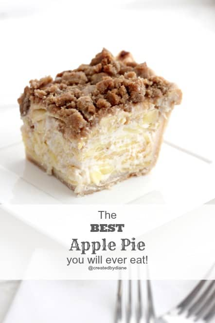 THE BEST Apple Pie RECIPE @createdbydiane
