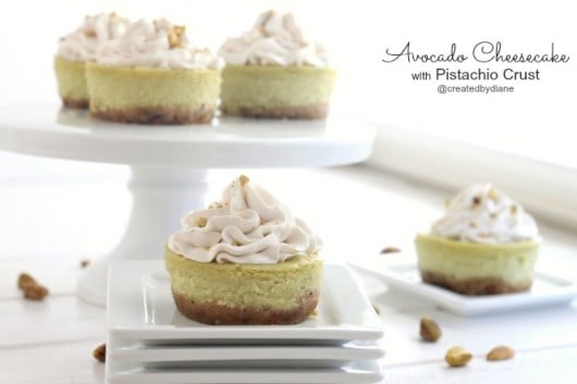 Avocado Cheesecake with Pistachio Crust @createdbydiane