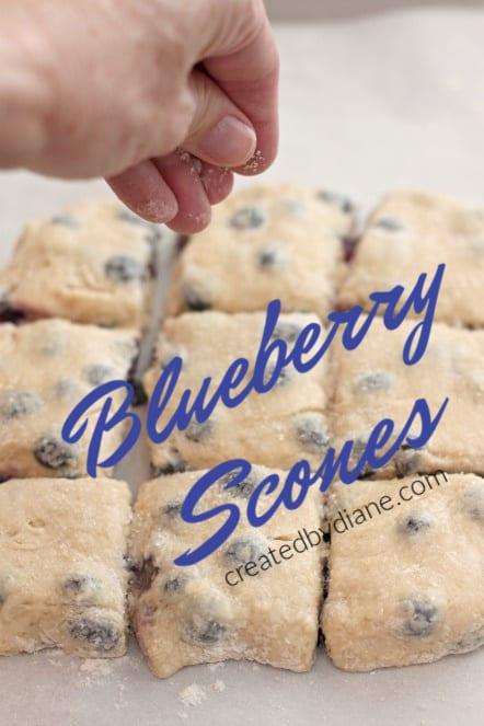 blueberry scones @createdbydiane