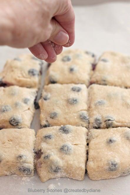 blueberry scones #recipe @createdbydiane