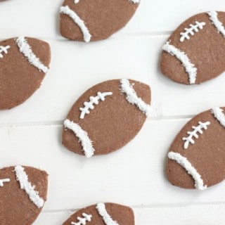 Chocolate Coconut Football Cookies