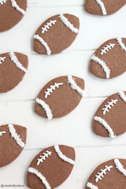 football cookies @createdbydiane #football #gameday