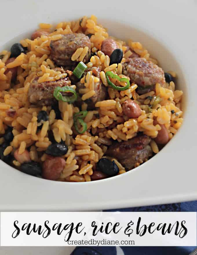 sausage rice and bean recipe createdbydiane.com