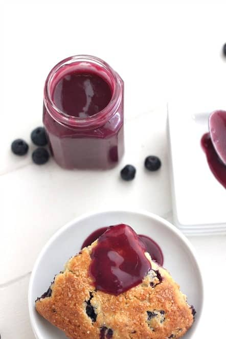 scone with blueberry curd @createdbydiane