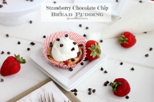 strawberry chocolate chip bread pudding from @createdbydiane