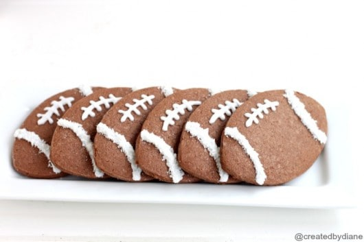 Chocolate Coconut Football Cookies from @createdbydiane