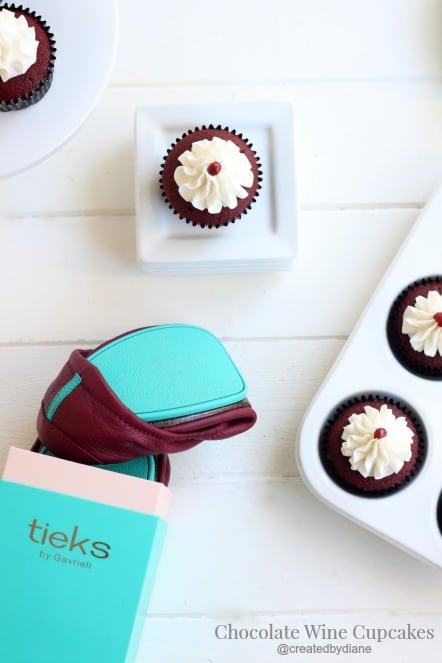 Burgundy Tieks with Wine Cupcakes @createdbydiane