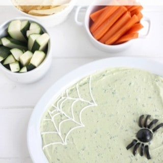 Halloween Avocado Buttermilk Ranch Dip @createdbydiane
