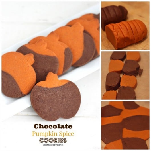 chocolate Pumpkin Spice color blocked cookies @createdbydiane