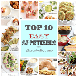top 10 easy appetizers from www.createdbydiane.com