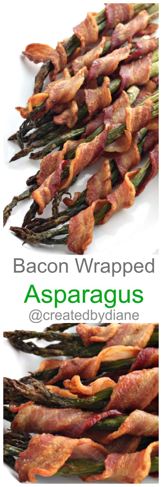 Bacon Wrapped Asparagus @createdbydiane www.createdby-diane.com
