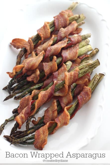 Bacon Wrapped Asparagus @createdbydiane