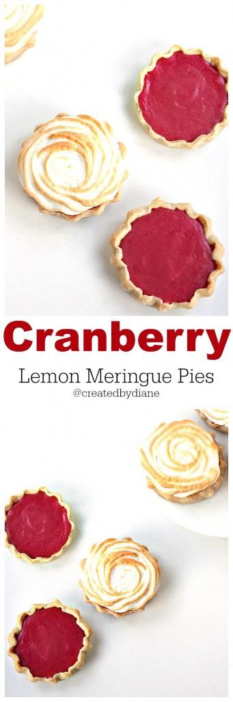 CRANBERRY Lemon Meringue Pies www.createdby-diane.com @createdbydiane