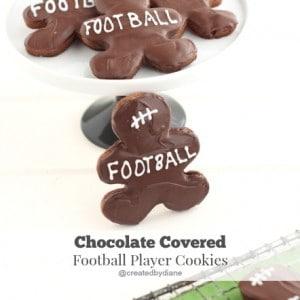 Chocolate Covered Football Player Cookies @createdbydiane