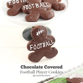 Chocolate Football Player Cookies