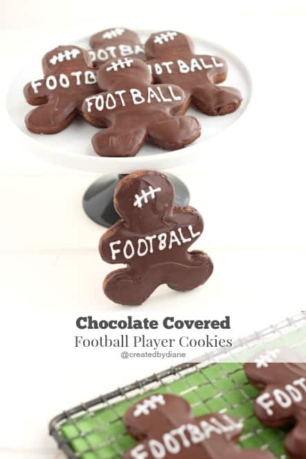 Chocolate Covered Football Player Cookies @createdbydiane