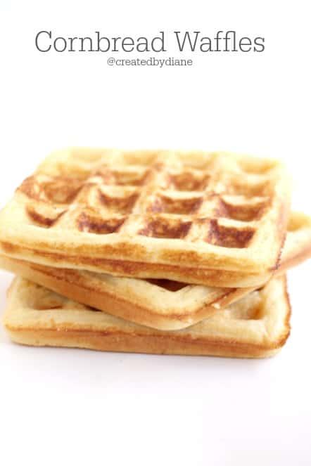 Cornbread Waffles @createdbydiane