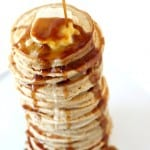 Delicious Maple Pancakes with Coffee Syrup @createdbydiane.jpg