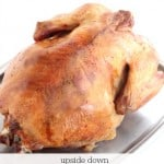 How to roast a turkey upside down and overnight @createdbydiane
