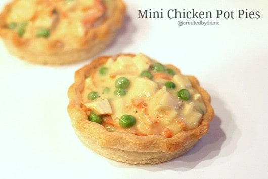 Mini Chicken Pot Pies @createdbydiane