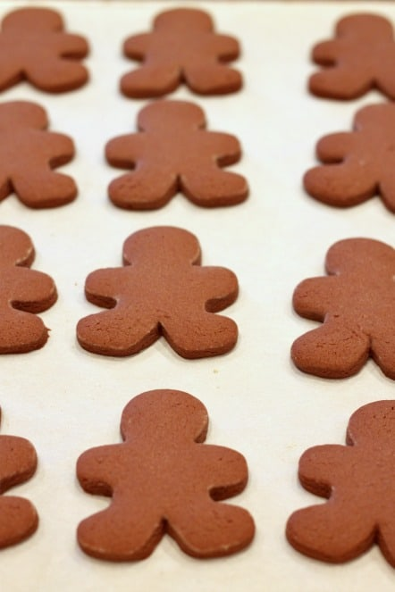 chocolate gingerbread boy cookies @createdbydiane