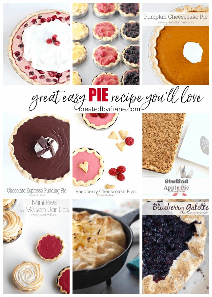 great easy pie recipes you'll love createdbydiane.com