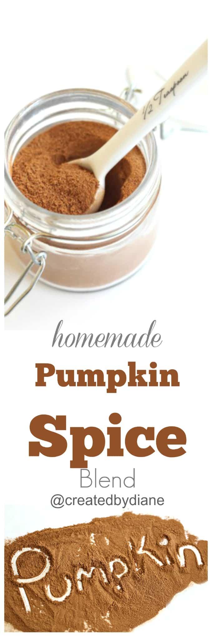 homemade pumpkin spice blend @createdbydiane