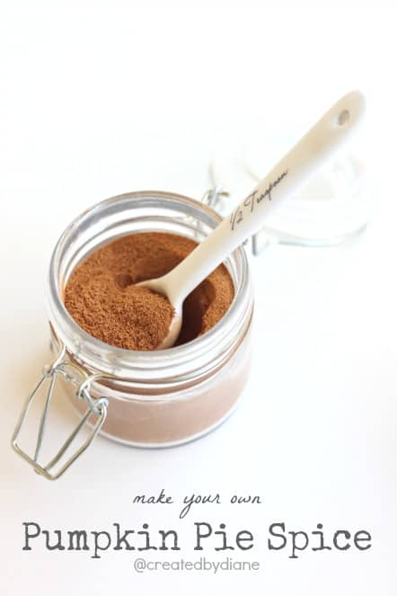 make your own pumpkin pie spice @createdbydiane