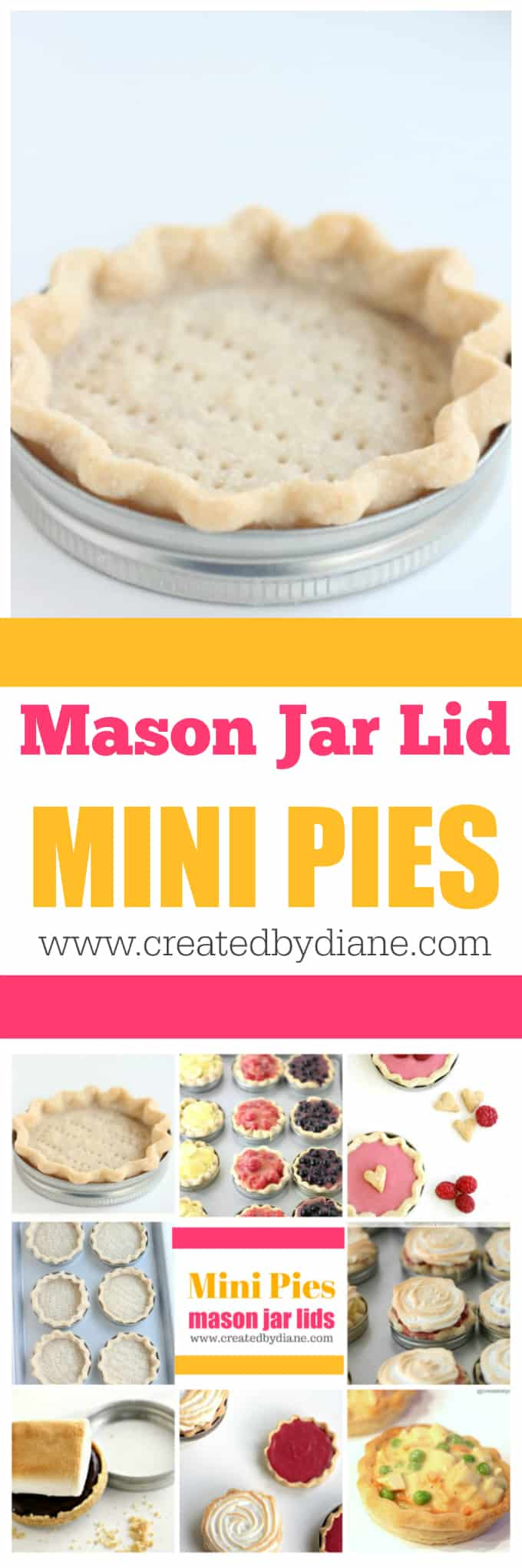mason jar mini pies www.createdbydiane.com