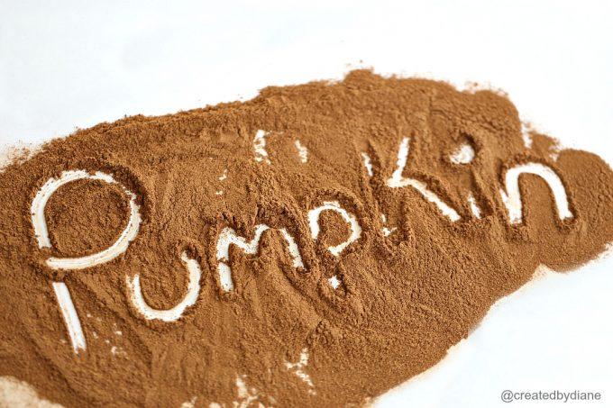 pumpkin spice from @createdbydiane (pumpkin written in pumpkin spice) @createdbydiane