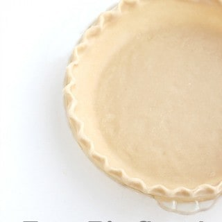 Easy Pie Crust made in a food processor @createdbydiane