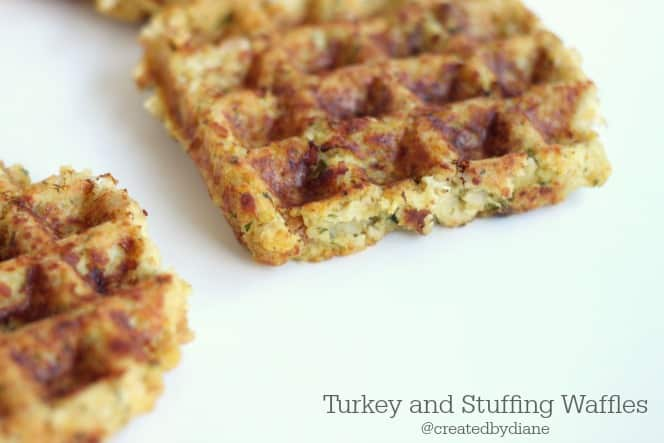 turkey and stuffing waffles from @createdbydiane