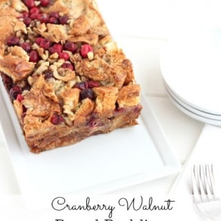 Cranberry Walnut Bread Pudding