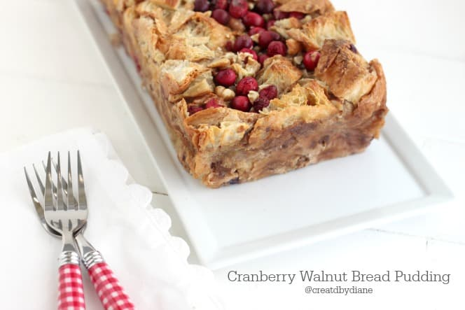 Cranberry Walnut Bread Pudding from @createdbydiane