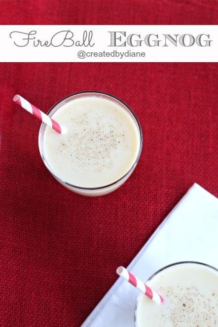 Fireball eggnog drink @createdbydiane
