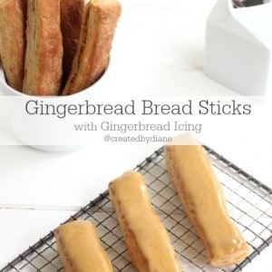 Gingerbread Bread Sticks with Gingerbread Icing @createdbydiane