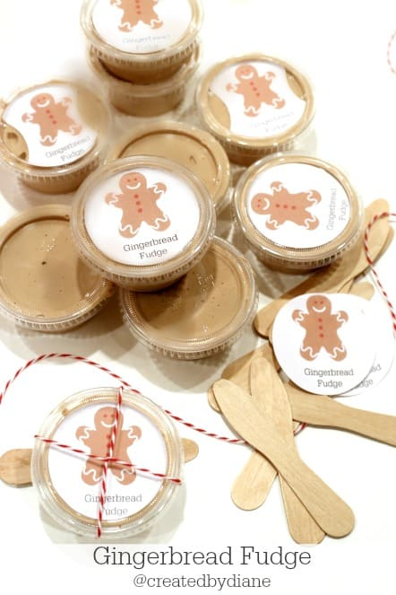 gingerbread fudge and printable