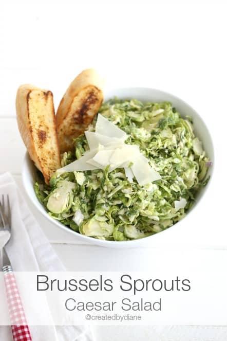 brussles sprouts caesar salad recipe createdbydiane.com