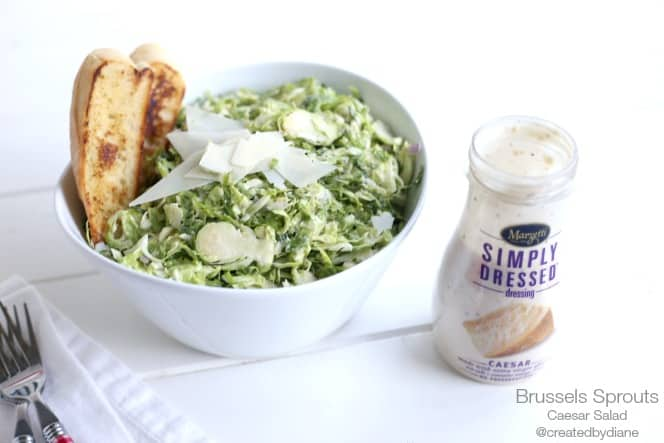 Delicious Brussels Sprouts Caesar Salad @createdbydiane