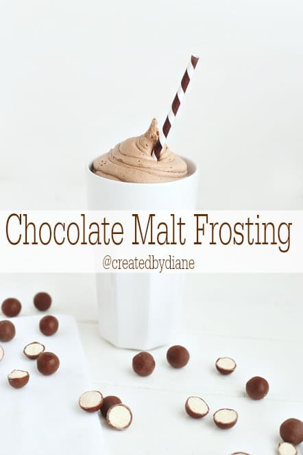 Malted Milk Frosting @createdbydiane