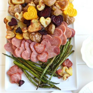 Roasted Potatoes and Ham with Caramelized Onion Dip from @createdbydiane