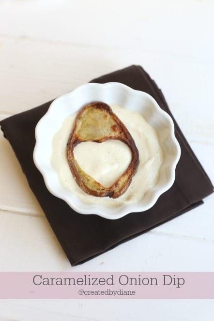 caramelized onion dip @createdbydiane