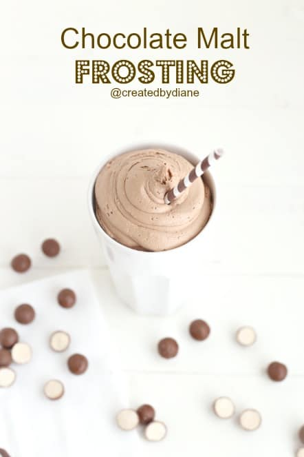 Chocolate Malt FROSTING from @createdbydiane