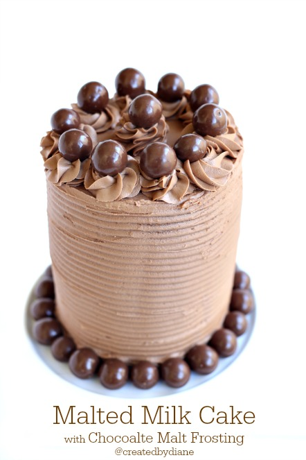 Malted Milk Cake from @createdbydiane with Chocolate Malt Frosting. It's like a WHOPPERS lovers paradise in a cake!