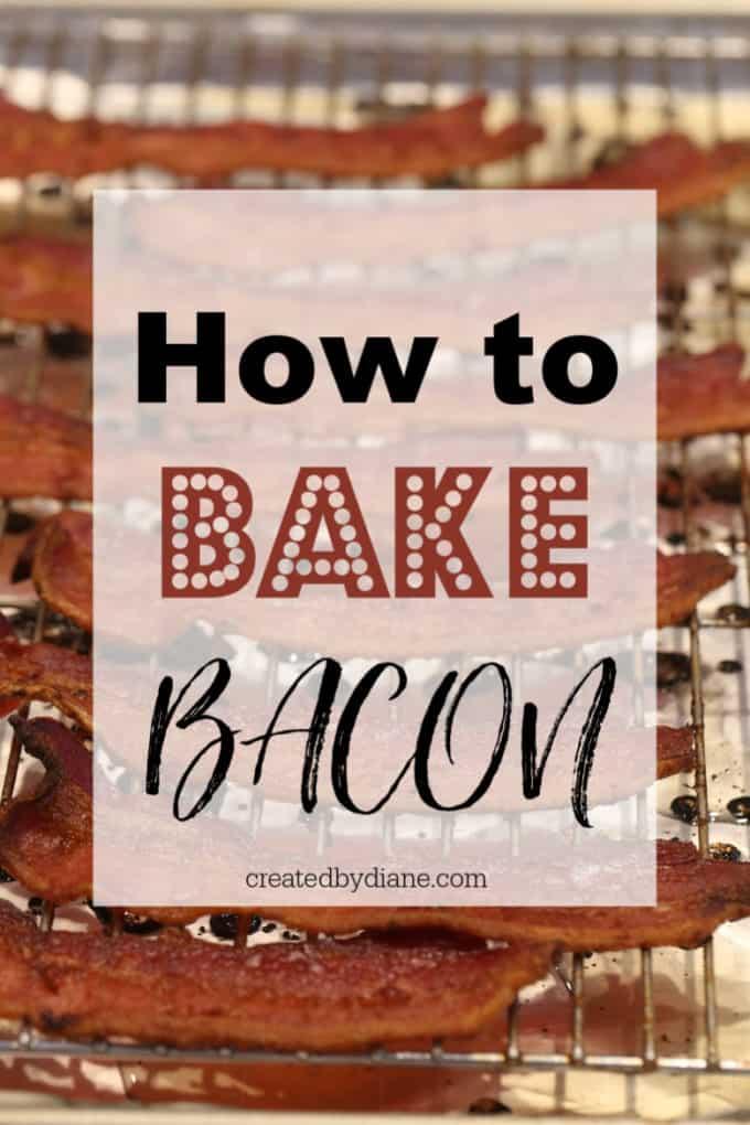 baked bacon createdbydiane.com