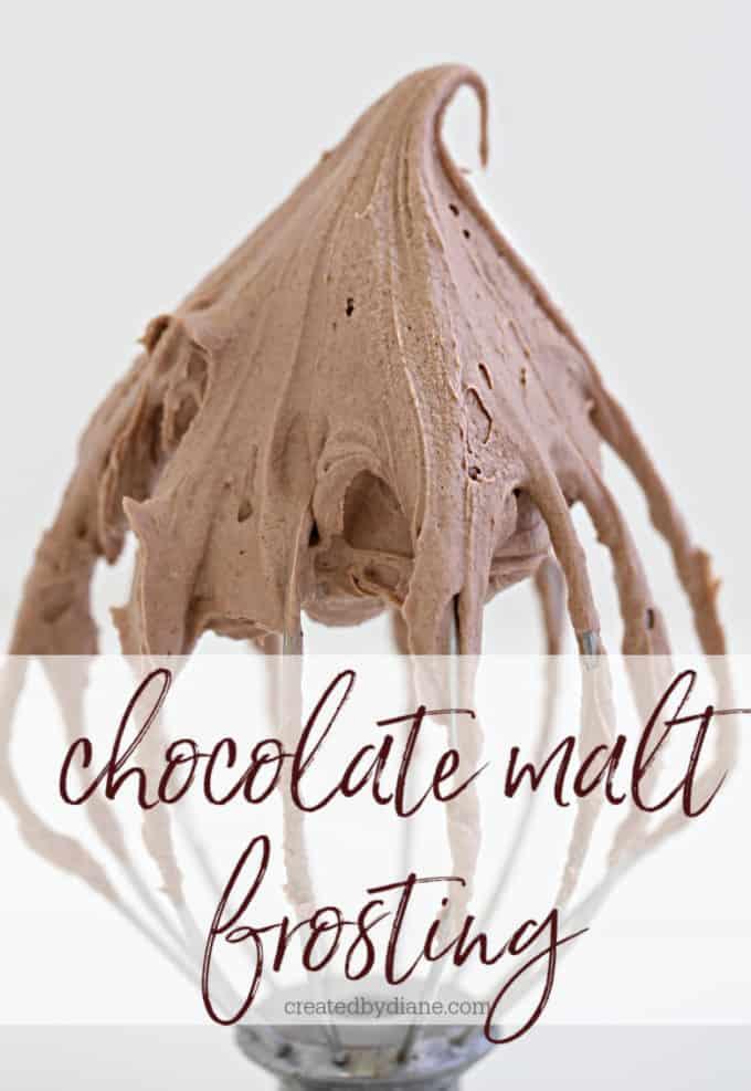 chocolate malt frosting createdbydiane.com