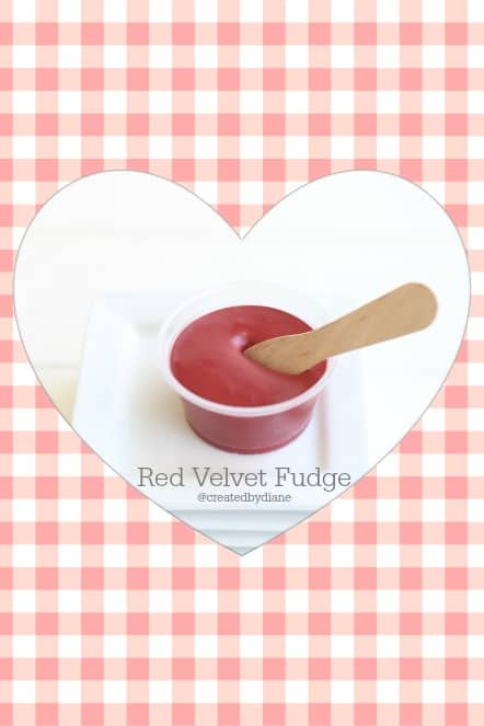 gingham red velvet fudge
